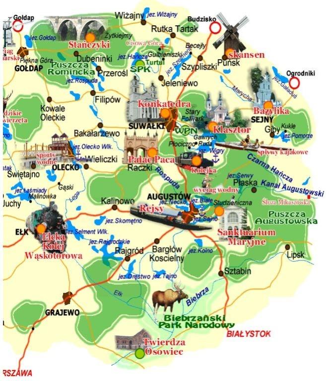 Mapa Suwalszczyzna